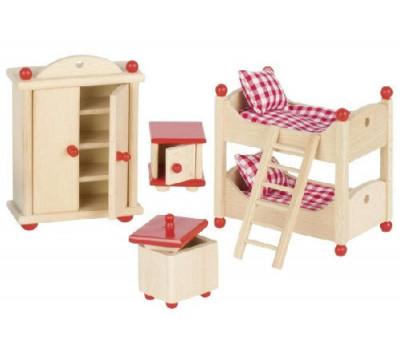 goki Набор для кукол Мебель для детской комнаты