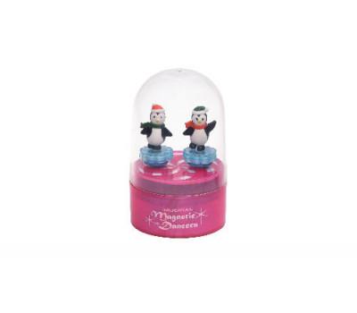goki Музыкальная коробка  - Пингвины (розовая)