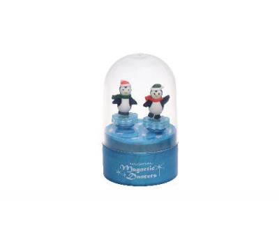 goki Музыкальная коробка - Пингвины (синяя)