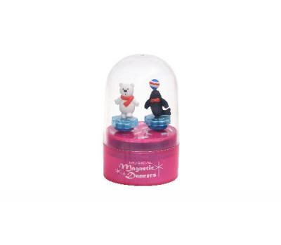 goki Музична коробка - Тюлень і білий ведмедик (рожева)