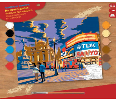 Sequin Art Набор для творчества PAINTING BY NUMBERS SENIOR London Piccadilly