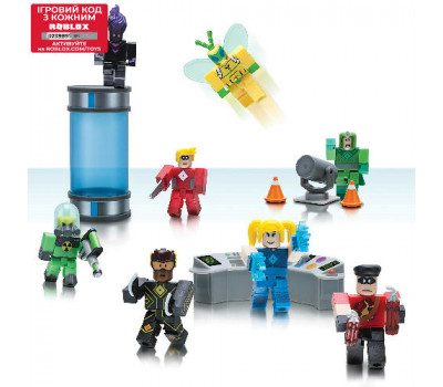 Roblox Ігрова колекційна фігурка Environmental Set Heroes of Robloxia, набір 8 шт.