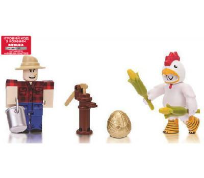 Roblox Игровая коллекционная фигурка Game Packs Chicken Simulator, набор 2 шт.